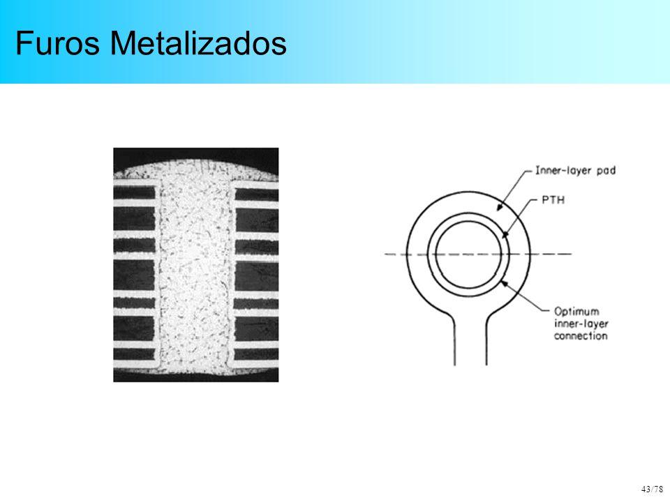 43/78 Furos Metalizados