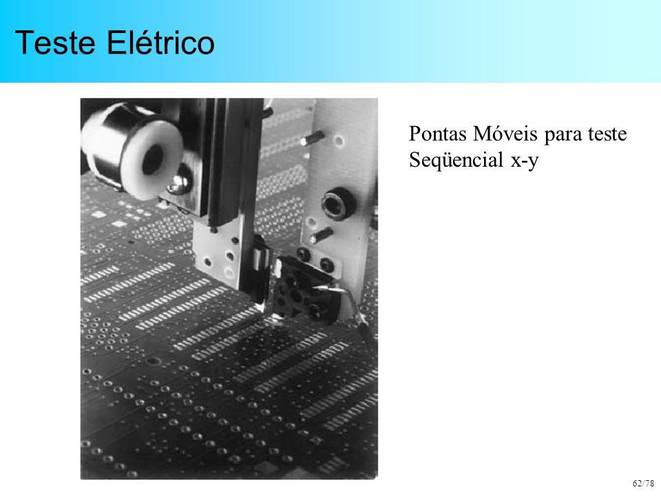 62/78 Teste Elétrico Pontas Móveis para teste Seqüencial x-y