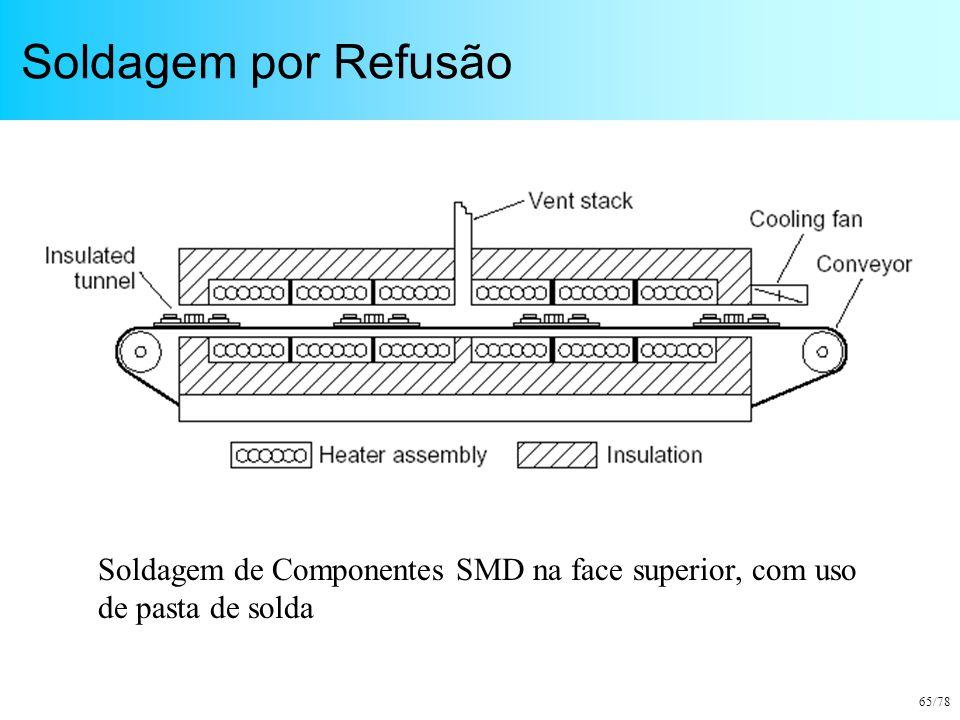 65/78 Soldagem por Refusão Soldagem de Componentes SMD na face superior, com uso de pasta de solda