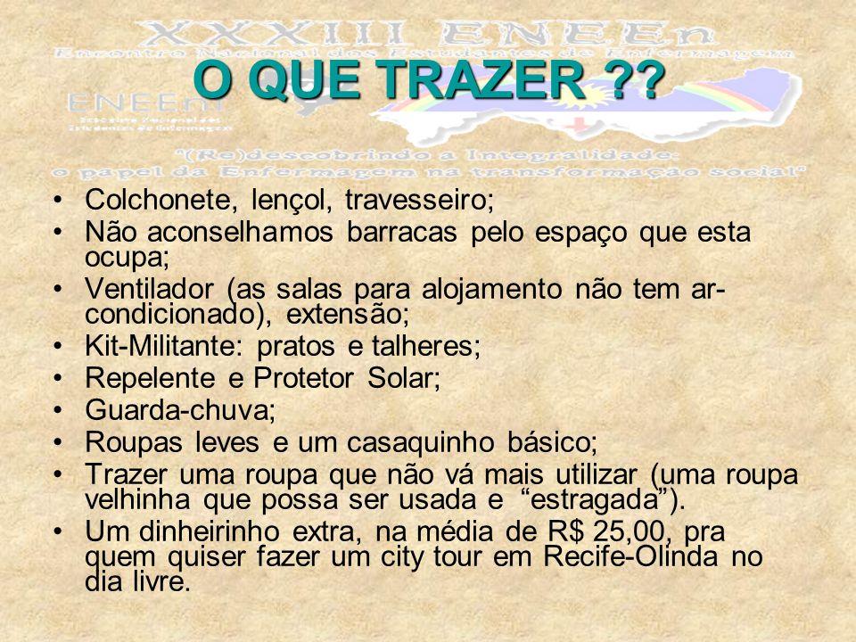 O QUE TRAZER .