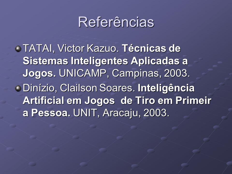 Referências TATAI, Victor Kazuo. Técnicas de Sistemas Inteligentes Aplicadas a Jogos.