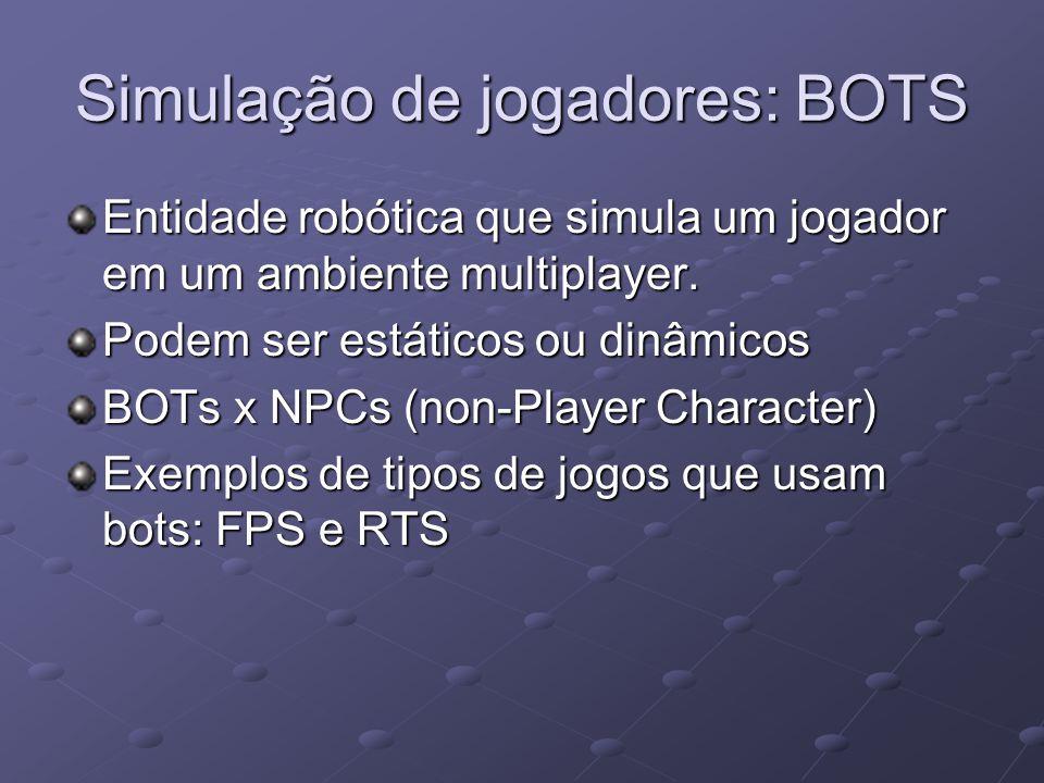 Simulação de jogadores: BOTS Entidade robótica que simula um jogador em um ambiente multiplayer.