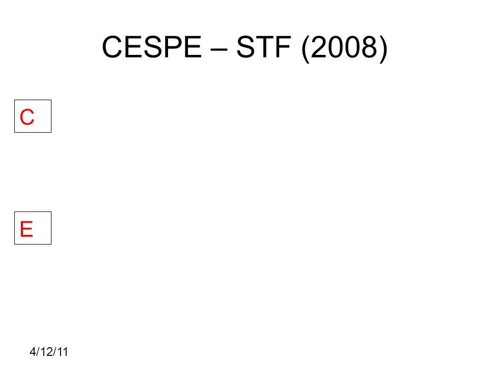 4/12/11 CESPE – STF (2008) C E