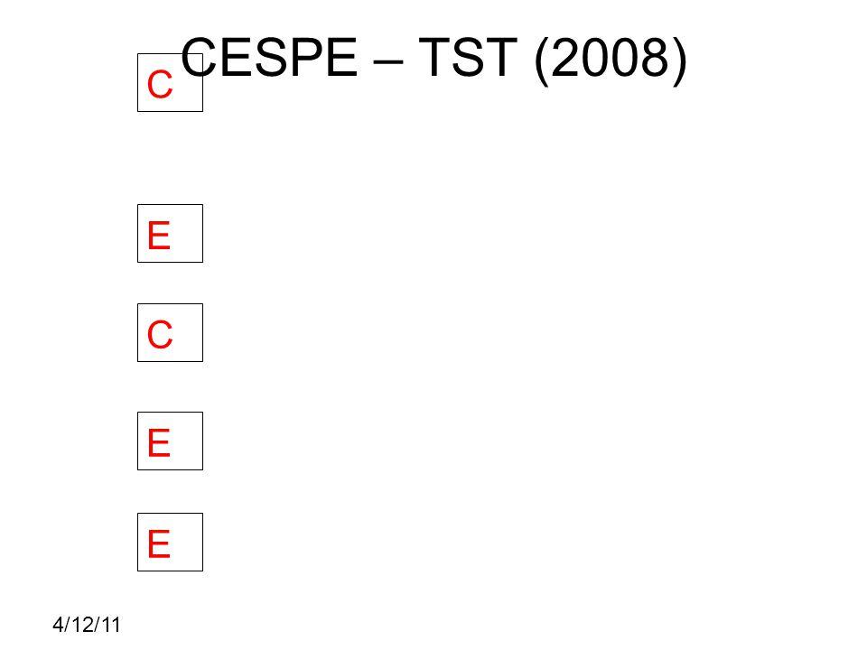 4/12/11 CESPE – TST (2008) C E C E E