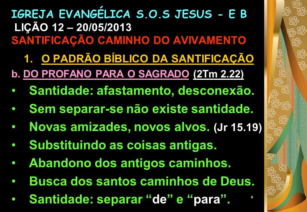 5 1.O PADRÃO BÍBLICO DA SANTIFICAÇÃO c.