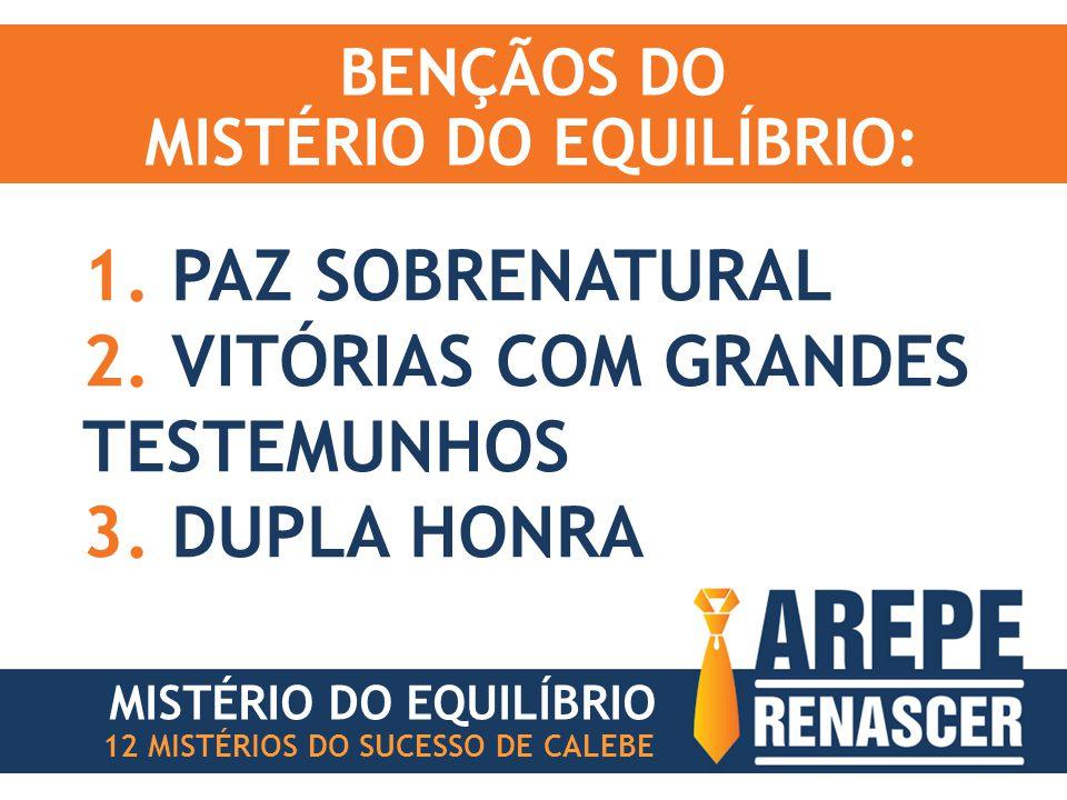 BENÇÃOS DO MISTÉRIO DO EQUILÍBRIO: 1. PAZ SOBRENATURAL 2.