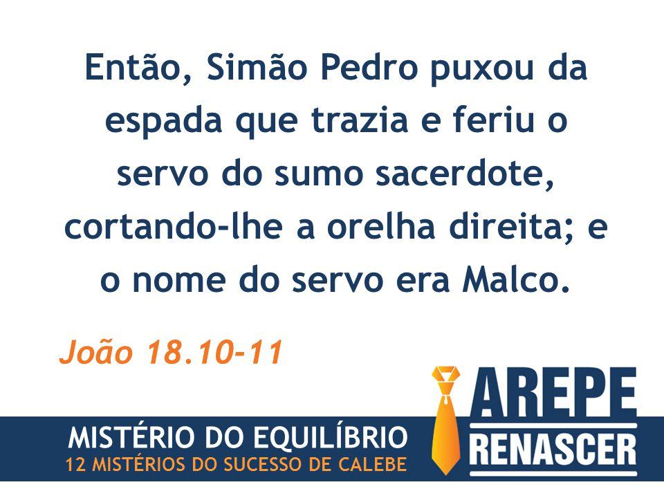 Então, Simão Pedro puxou da espada que trazia e feriu o servo do sumo sacerdote, cortando-lhe a orelha direita; e o nome do servo era Malco.