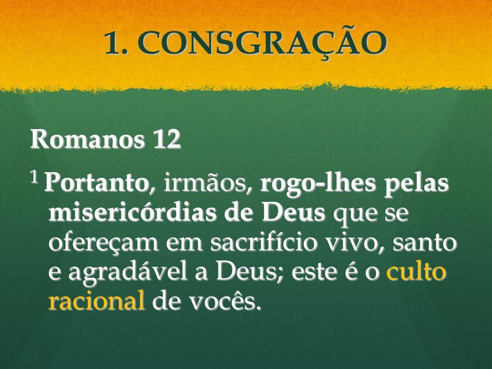 Romanos 12 1 Portanto, irmãos, rogo-lhes pelas misericórdias de Deus que se ofereçam em sacrifício vivo, santo e agradável a Deus; este é o culto raci