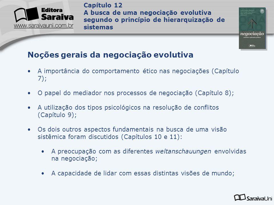 Capa da Obra Capítulo 12 A busca de uma negociação evolutiva segundo o princípio de hierarquização de sistemas A importância do comportamento ético na