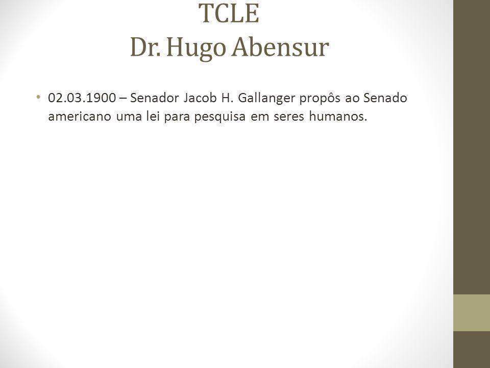 TCLE Dr.Hugo Abensur 02.03.1900 – Senador Jacob H.
