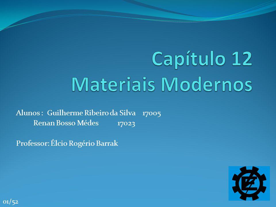 Referências Bibliográficas Química - A Ciência Central - 9ª Edição, Autor: Brown / Lemay / Bursten Editora: Pearson Education http://74.125.47.132/search?q=cache:Cj_tDZk3mOsJ:matmec.files.wordpress.co m/2008/08/cap13.ppt+Cer%C3%A2mica+Cristalina&cd=11&hl=pt- BR&ct=clnk&gl=br http://74.125.47.132/search?q=cache:Cj_tDZk3mOsJ:matmec.files.wordpress.co m/2008/08/cap13.ppt+Cer%C3%A2mica+Cristalina&cd=11&hl=pt- BR&ct=clnk&gl=br http://www.quimica.ufpr.br/gqm/processo%20sol-gel.htm www.abmaco.org.br/compositos.cfm http://www.seara.ufc.br/especiais/fisica/supercondutividade/supercondutivid ade2.htmhttp://www.seara.ufc.br/especiais/fisica/supercondutividade/supercondutivid ade2.htm Guilherme Ribeiro da Silva 17005 Renan Bosso Médes 17023 52/52