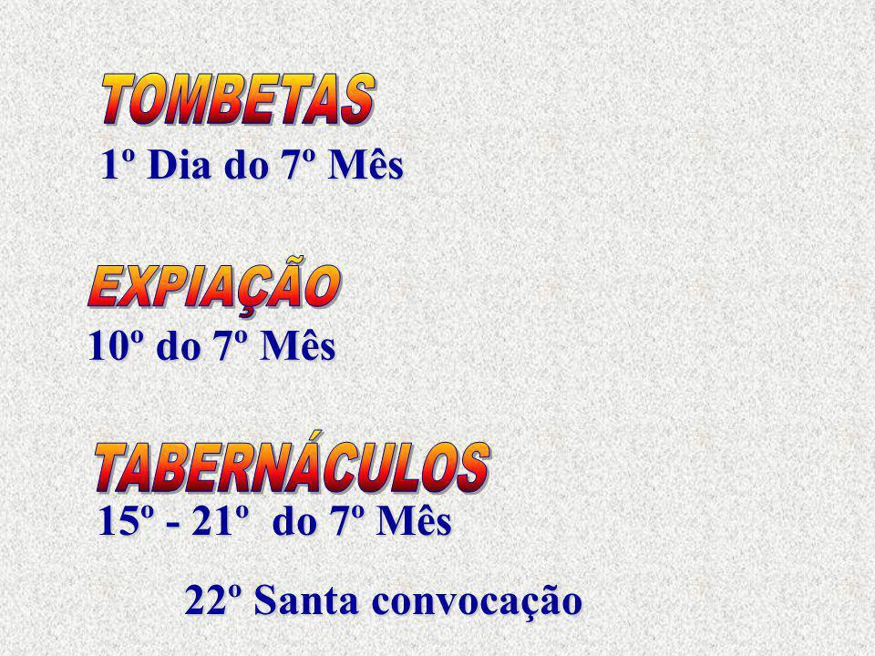 1º Dia do 7º Mês 10º do 7º Mês 15º - 21ºdo 7º Mês 22º Santa convocação 22º Santa convocação