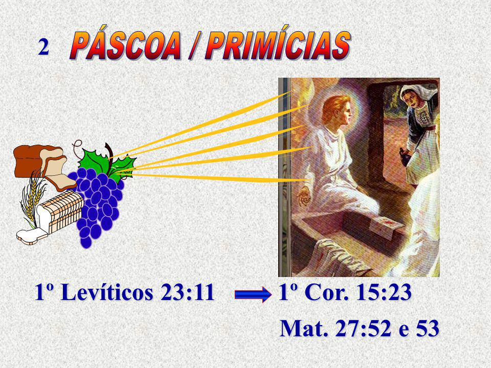 2 1º Levíticos 23:11 1º Cor. 15:23 Mat. 27:52 e 53
