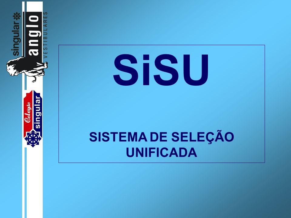 SiSU SISTEMA DE SELEÇÃO UNIFICADA