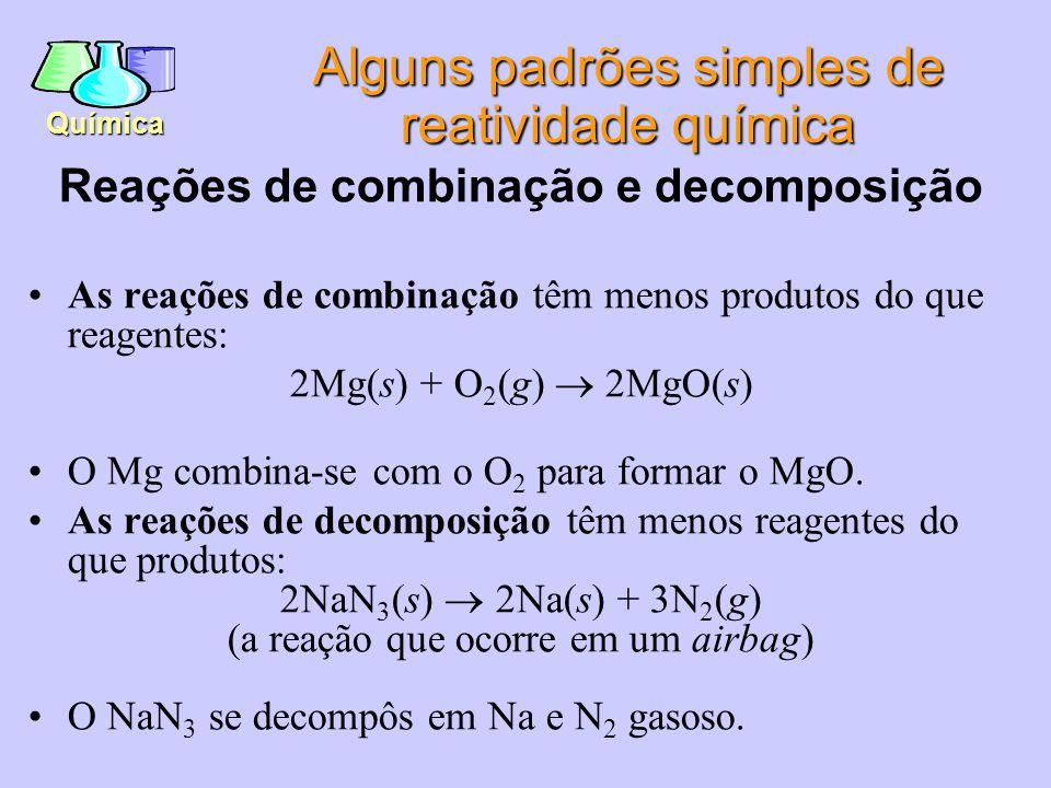 Química Lei da conservação da massa: a matéria não pode ser perdida em nenhuma reação química.