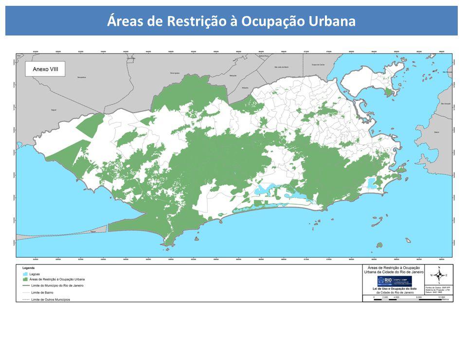 LUOS – Áreas de restrição à ocupação urbana Áreas de Restrição à Ocupação Urbana