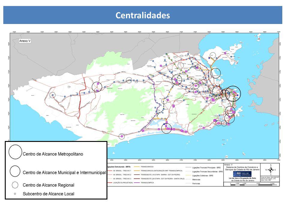 LUOS - Sistema de Centros e Subcentros Centralidades