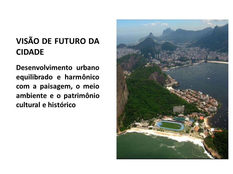 VISÃO DE FUTURO DA CIDADE Desenvolvimento urbano equilibrado e harmônico com a paisagem, o meio ambiente e o patrimônio cultural e histórico