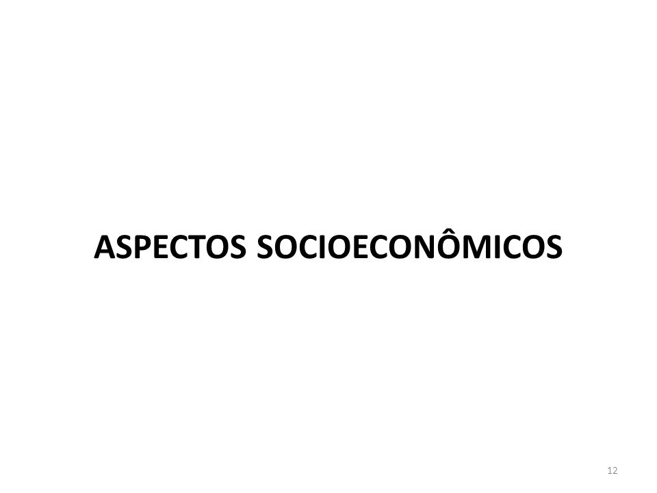 ASPECTOS SOCIOECONÔMICOS 12