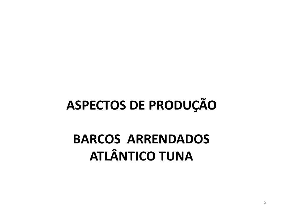 ASPECTOS DE PRODUÇÃO BARCOS ARRENDADOS ATLÂNTICO TUNA 5