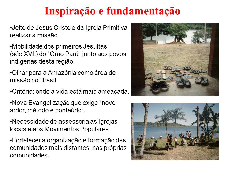 """Inspiração e fundamentação Jeito de Jesus Cristo e da Igreja Primitiva realizar a missão. Mobilidade dos primeiros Jesuítas (séc.XVII) do """"Grão Pará"""""""