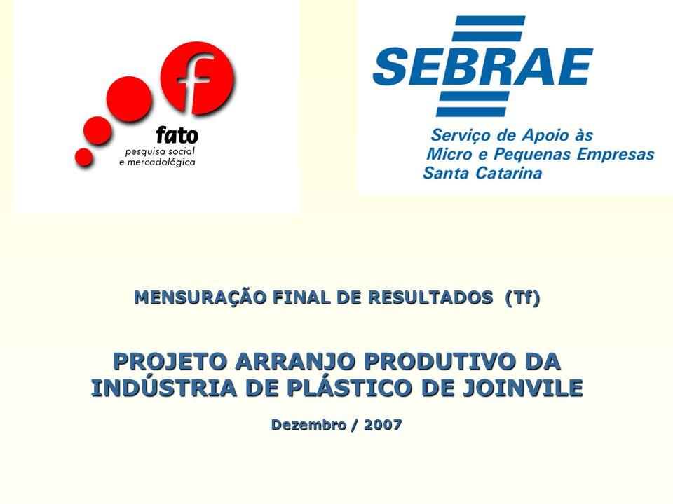 MENSURAÇÃO FINAL DE RESULTADOS (Tf) PROJETO ARRANJO PRODUTIVO DA INDÚSTRIA DE PLÁSTICO DE JOINVILE Dezembro / 2007