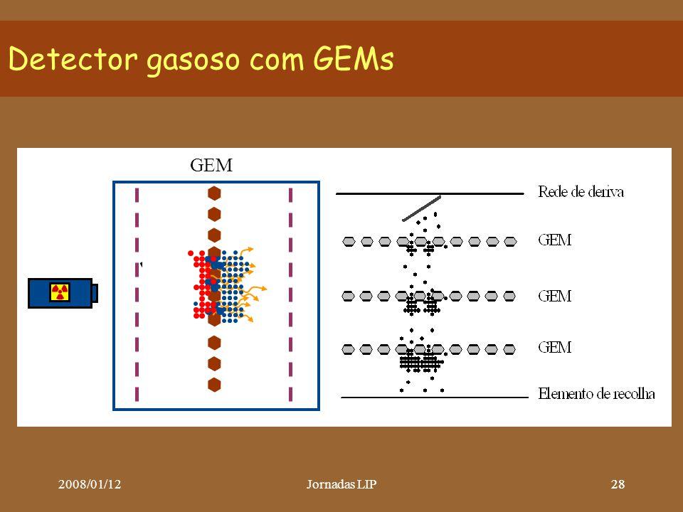 2008/01/12Jornadas LIP28 Detector gasoso com GEMs GEM