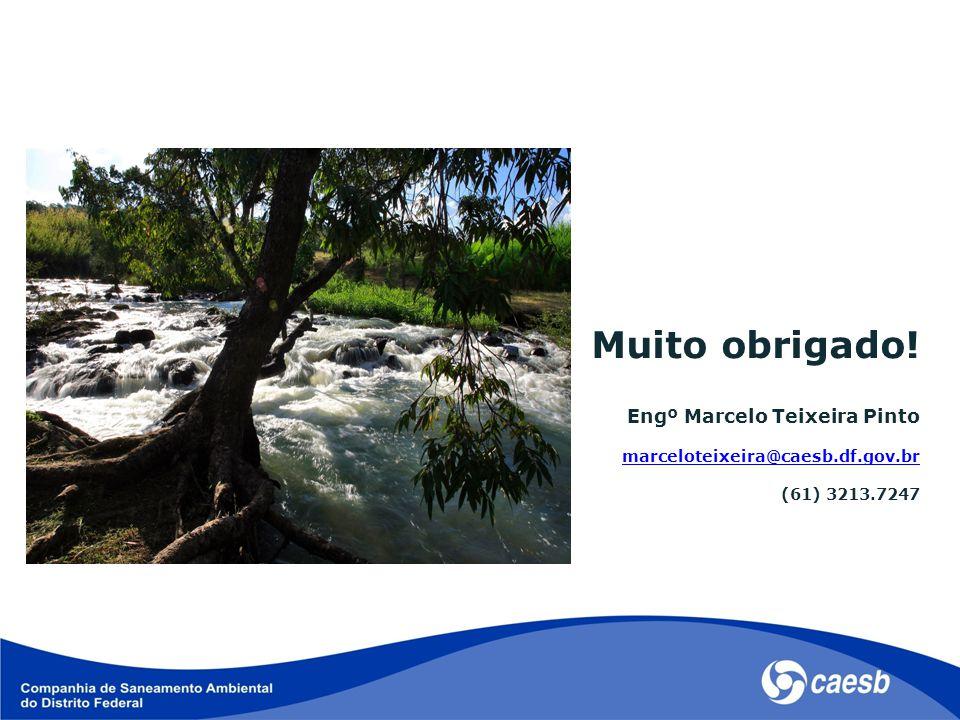 Muito obrigado! Engº Marcelo Teixeira Pinto marceloteixeira@caesb.df.gov.br (61) 3213.7247