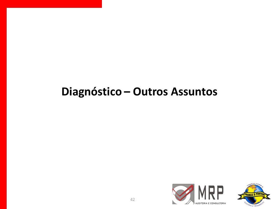 Diagnóstico – Outros Assuntos 42