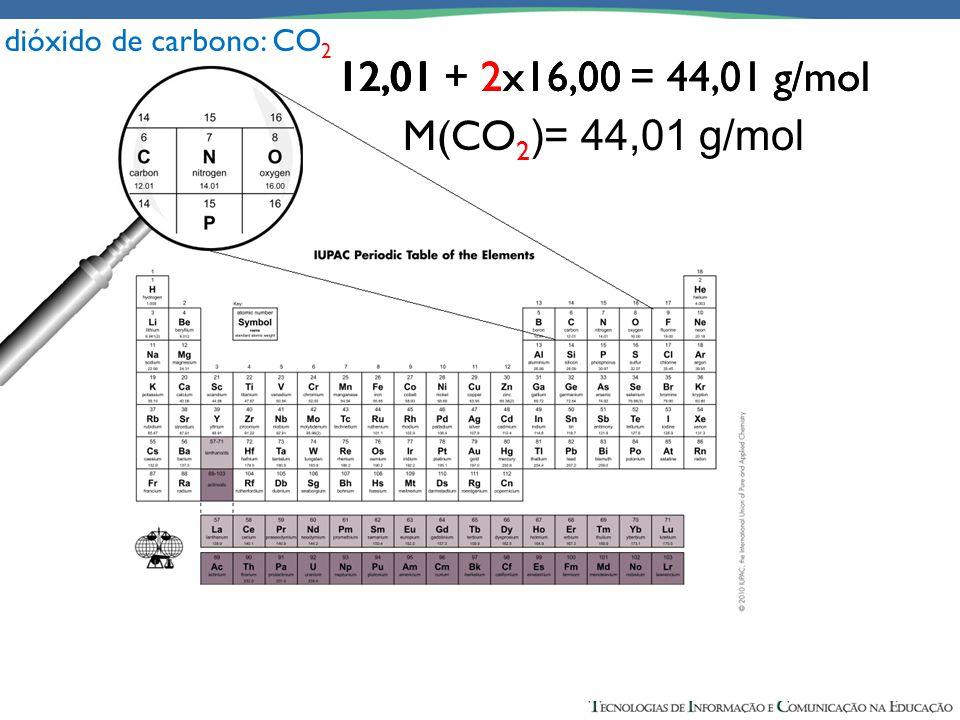 12,01 + 16,00 = 28,01 g/mol M(CO )= 28,01 g/mol 12,01 + 2x16,00 = 28,01 g/mol M(CO )= 28,01 g/mol 12,01 + 2x16,00 = 44,01 g/mol M(CO )= 28,01 g/mol 12