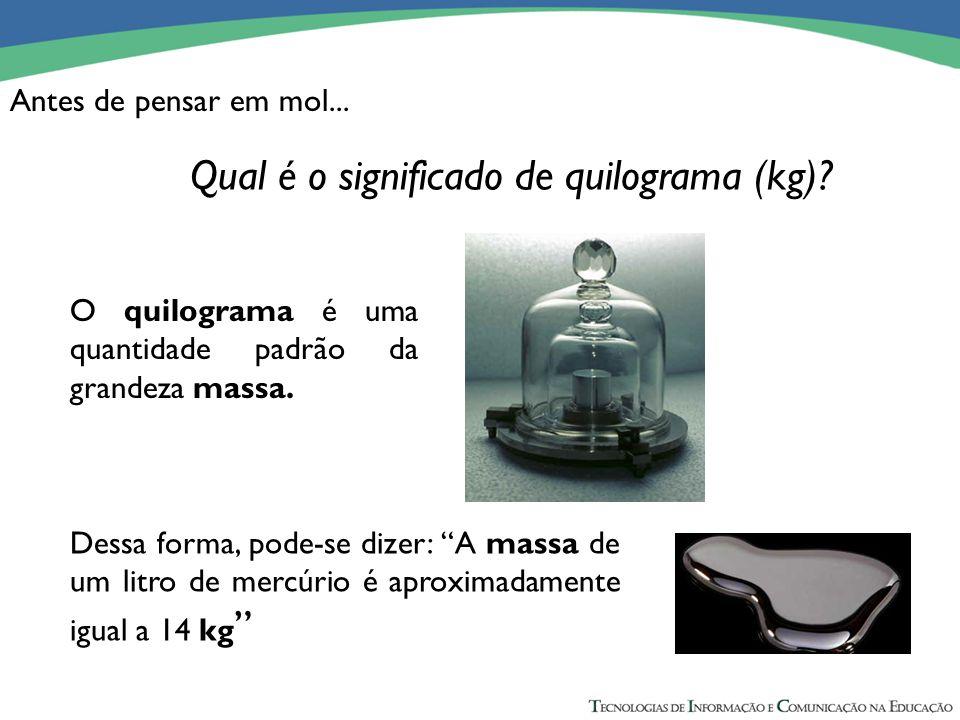 Antes de pensar em mol... 0,96 g de K + ------- 100 mL (concentração) x g de K + ---------- 250 mL (volume total) x = 2,40 g de K + O quilograma é uma