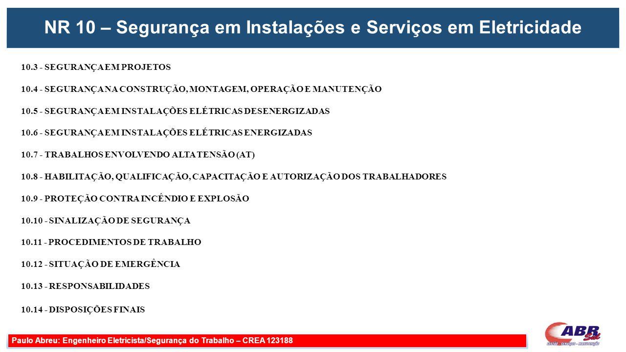 Adequações Paulo Abreu: Engenheiro Eletricista/Segurança do Trabalho – CREA 123188 Aterramentos