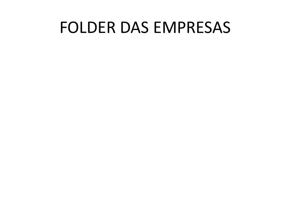 FOLDER DAS EMPRESAS