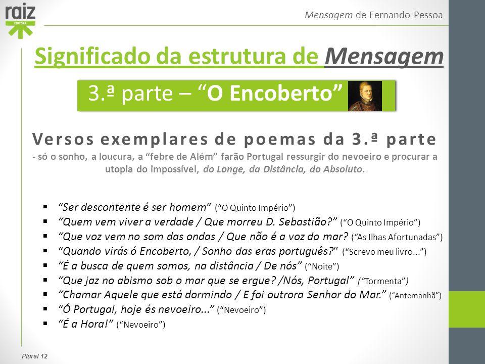 """Plural 12 Mensagem de Fernando Pessoa Versos exemplares de poemas da 3.ª parte - só o sonho, a loucura, a """"febre de Além"""" farão Portugal ressurgir do"""