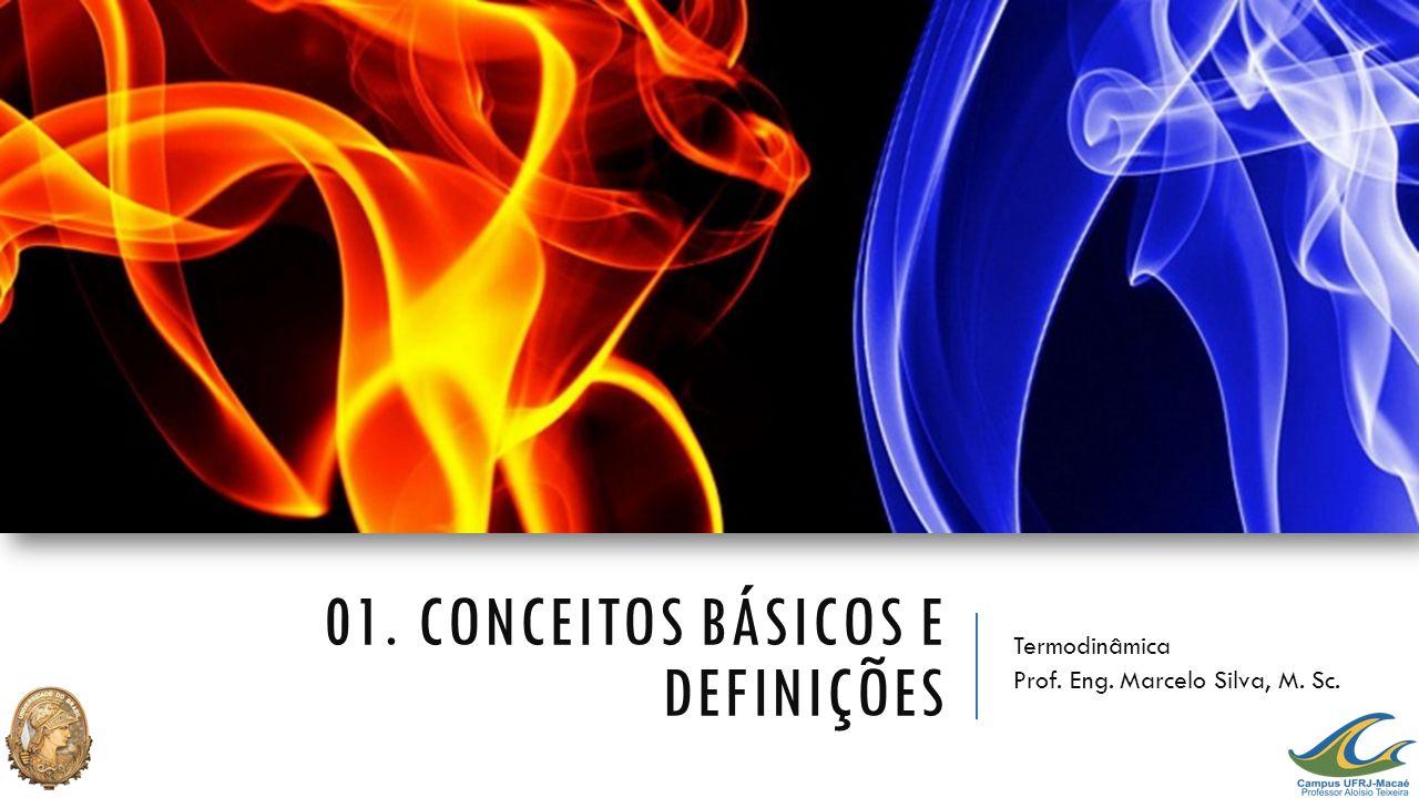 01. CONCEITOS BÁSICOS E DEFINIÇÕES Termodinâmica Prof. Eng. Marcelo Silva, M. Sc.