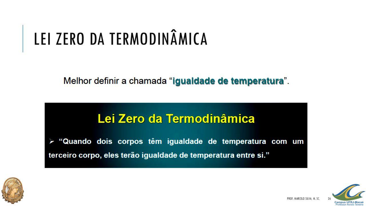 LEI ZERO DA TERMODINÂMICA PROF. MARCELO SILVA, M. SC.26