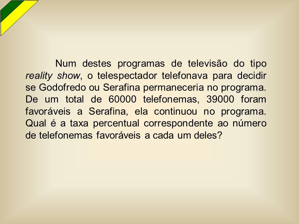 Num destes programas de televisão do tipo reality show, o telespectador telefonava para decidir se Godofredo ou Serafina permaneceria no programa. De