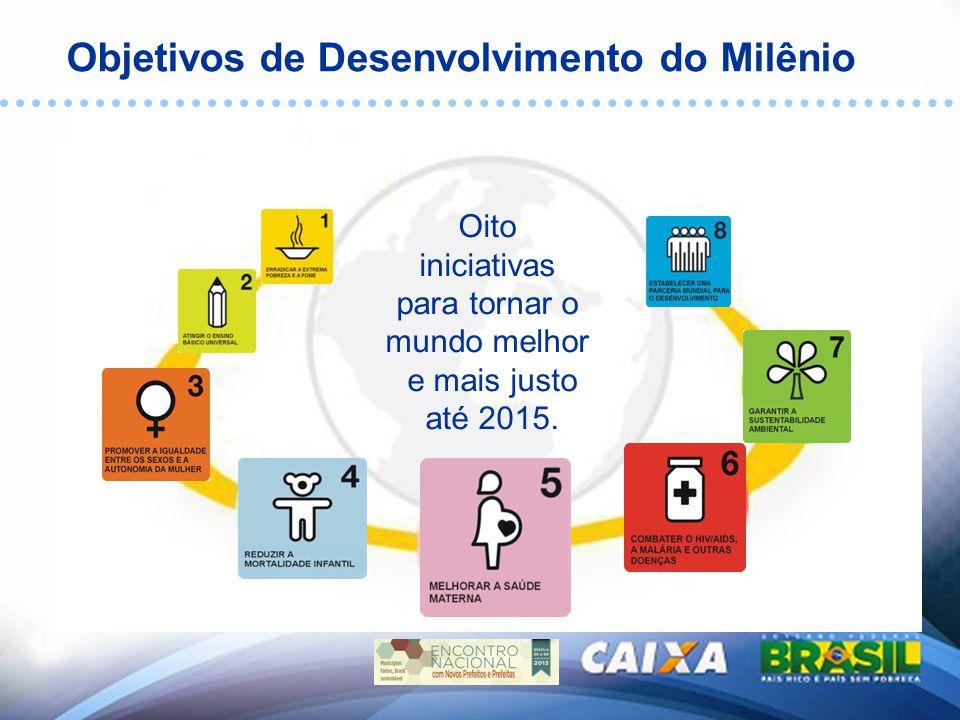 Objetivos de Desenvolvimento do Milênio Oito iniciativas para tornar o mundo melhor e mais justo até 2015.