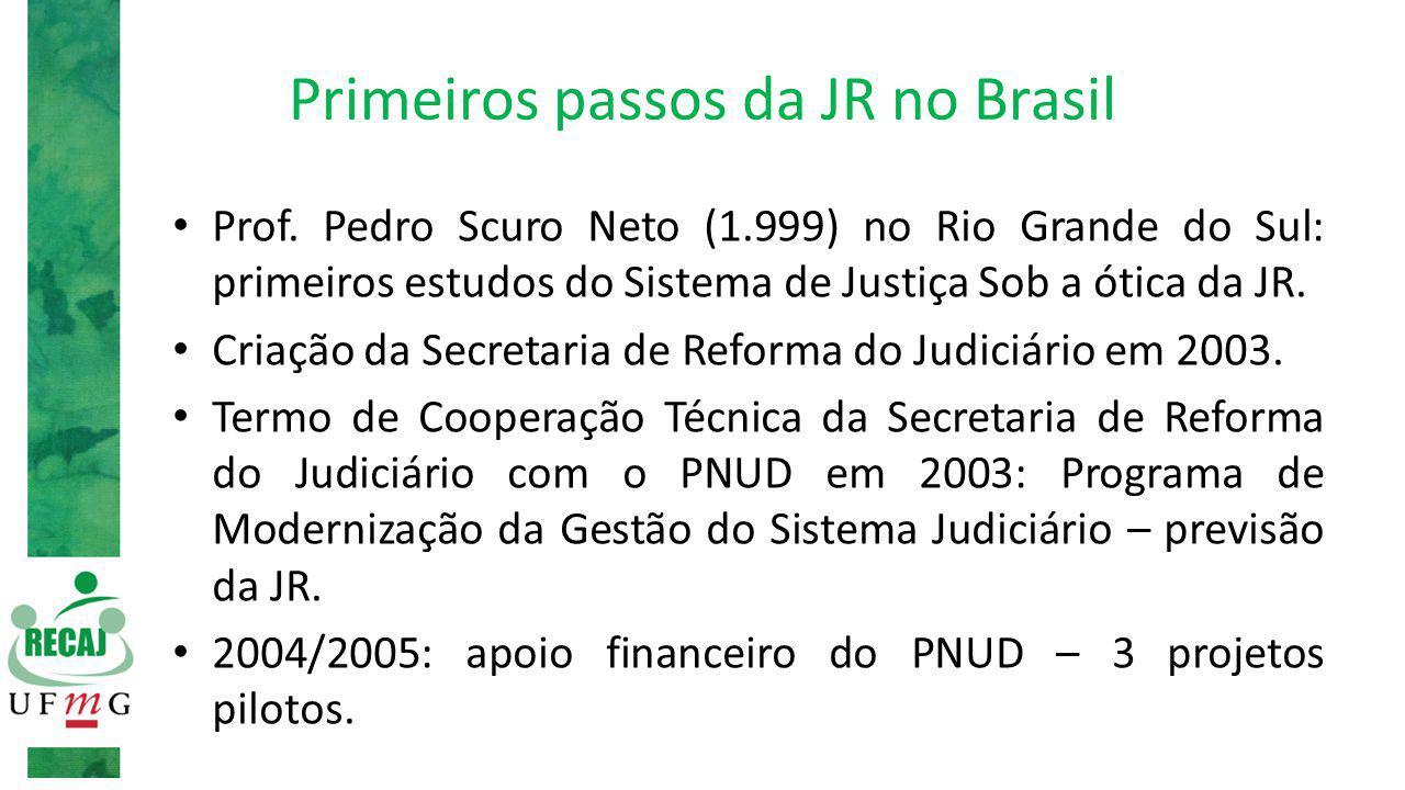 Primeiros passos da JR no Brasil Prof.