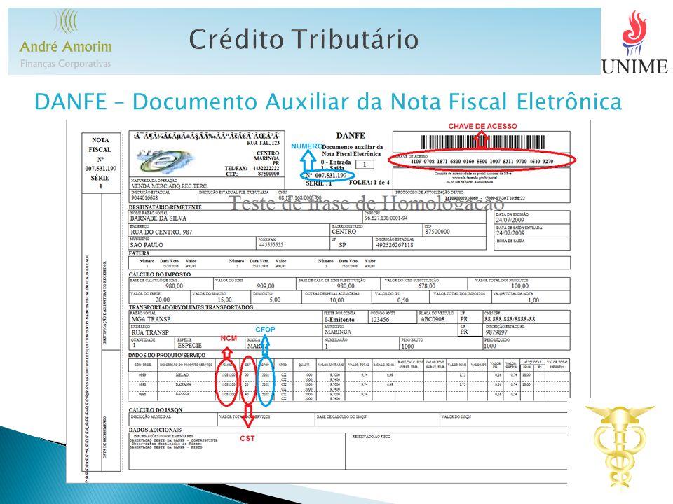 DANFE – Documento Auxiliar da Nota Fiscal Eletrônica