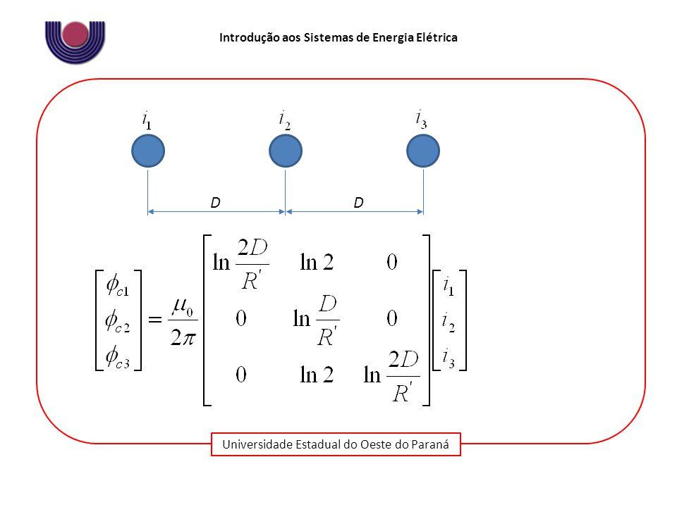 Universidade Estadual do Oeste do Paraná Introdução aos Sistemas de Energia Elétrica DD