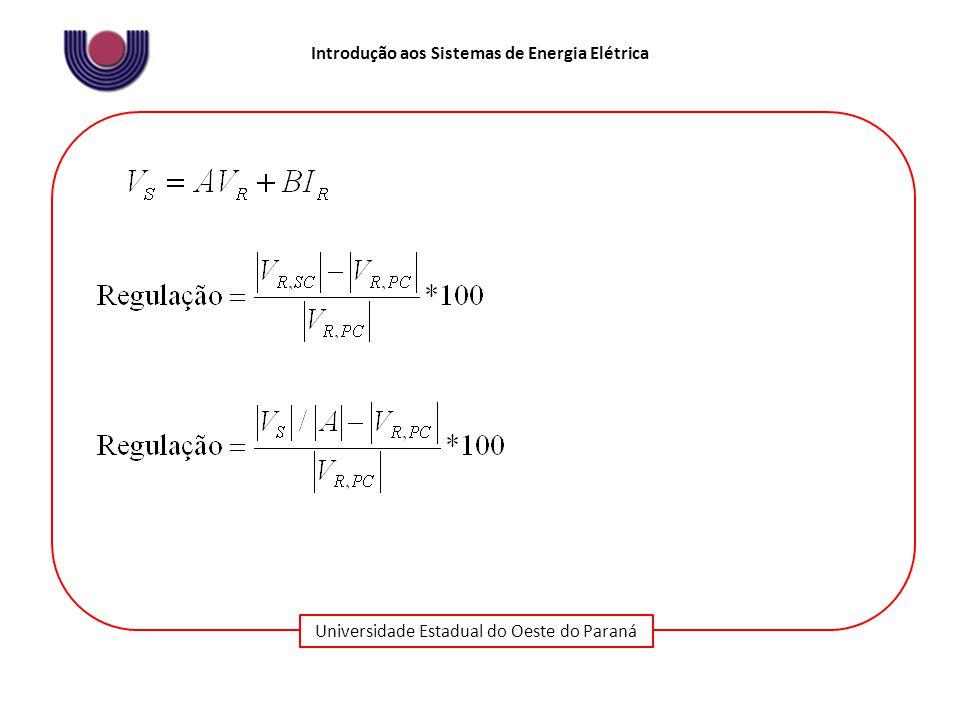 Universidade Estadual do Oeste do Paraná Introdução aos Sistemas de Energia Elétrica