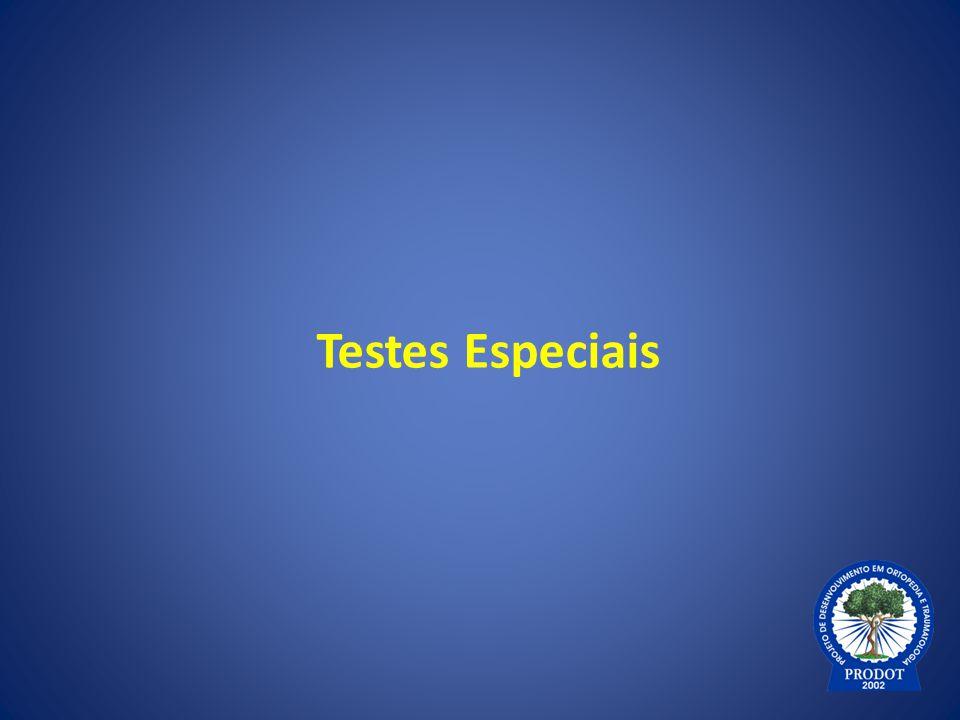 Testes Especiais