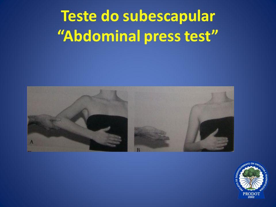"Teste do subescapular ""Abdominal press test"""