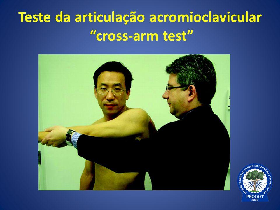 """Teste da articulação acromioclavicular """"cross-arm test"""""""