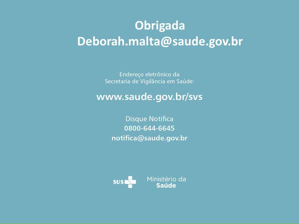 Obrigada Deborah.malta@saude.gov.br