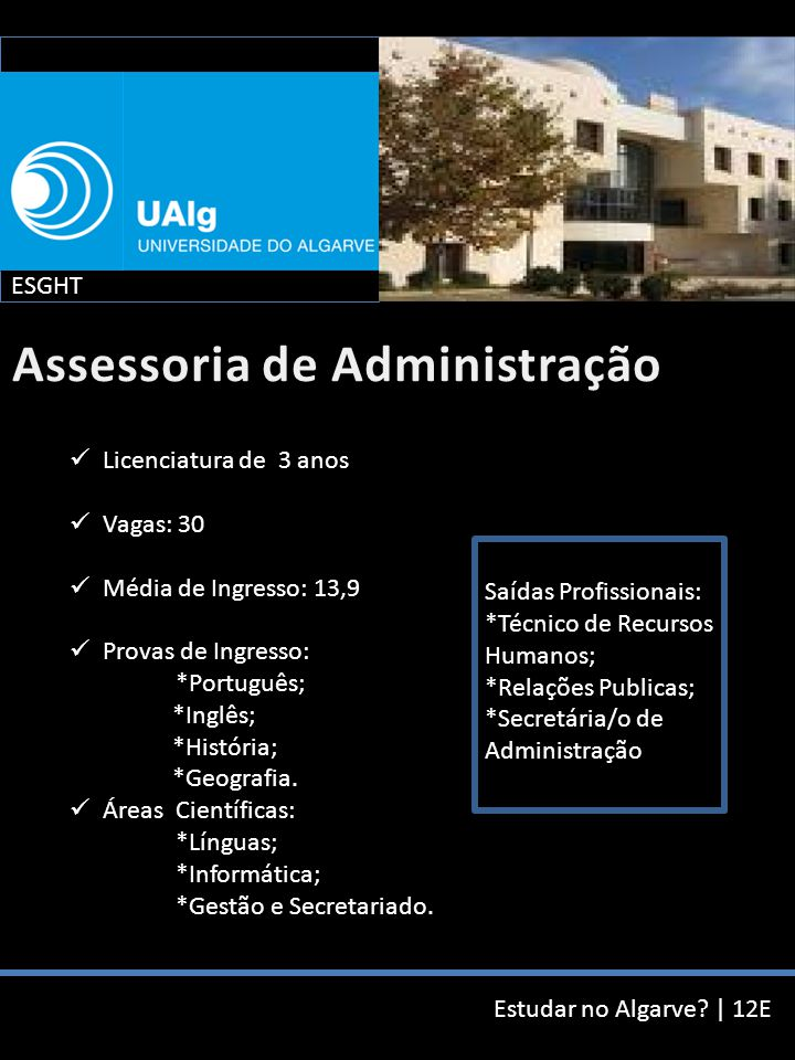 Estudar no Algarve.