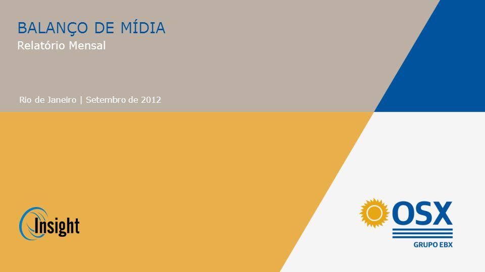 BALANÇO DE MÍDIA Relatório Mensal Rio de Janeiro | Setembro de 2012