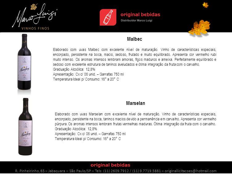 Chardonnay Elaborado com uvas Chardonnay extremamente maduras, resultou em um vinho jovial, harmonioso ao paladar e muito equilibrado.