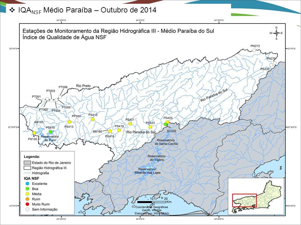  IQA NSF Médio Paraíba – Outubro de 2014